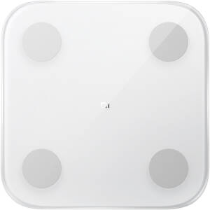 Cantar corporal Xiaomi Mi Body Composition Scale 2, Bluetooth, Display Led, App, 150 Kg, Alb